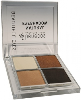 Benecos Natural Eyeshadow Quattro - Coffee and Cream